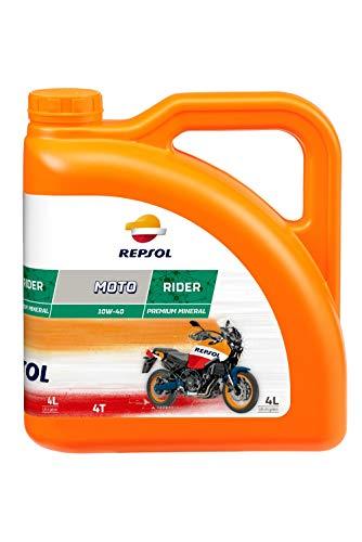 REPSOL Moto Rider 4T 10W-40 Aceite De Motor Para Moto, 4l