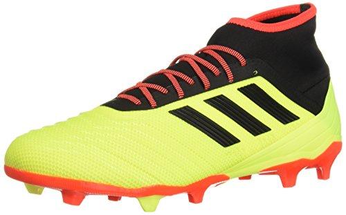 adidas Predator 18.2 Firm Ground - Botas de fútbol para Hombre, Color Amarillo, Negro y Rojo Solar, Talla 46 EU