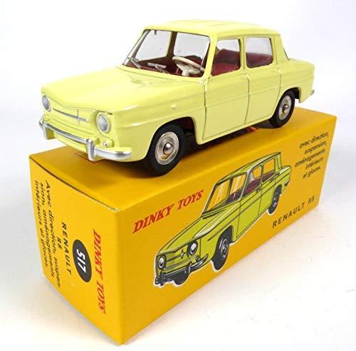 Générique Compatible con Renault 8 R8 Yellow - Atlas Dinky Toys - NOREV Collectible Car - 517
