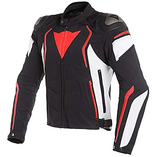 Chaqueta Moto Hombre Textil Impermeable con Armadura Traje de Ciclismo de Motocicleta Chaqueta Cuatro Estaciones Repelente al Agua de Invierno Traje de Rally Anticaida C,XXL