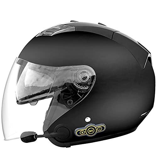 ★ Diseño de casco Bluetooth integrado: el diseño de casco bluetooth adopta un diseño integrado, los botones son delgados, la batería es de 3000 mAh, se puede usar durante 60 días y la música se puede escuchar durante 88 horas. Adopta el chip CSR5.0 británico y la calidad del sonido es clara y potente. ★ Material del casco: la carcasa del casco de la motocicleta adopta un cuerpo de casco ABS, que tiene una alta resistencia al impacto y al calor. La capa de espuma acolchada de EPS de alta densidad en el casco tiene un alto rendimiento de absorción de impactos, por lo que puede absorber los golpes de manera más efectiva y proteger la cabeza. ★ Lente antiniebla de alta definición: el espejo retrovisor exterior está equipado con una lente transparente antivaho de alta definición y el espejo retrovisor interior está equipado con visera solar antideslumbrante. El diseño de ángulo mejorado de doble lente amplía el campo de visión de conducción. La lente HD claramente visible para todo clima puede mejorar la seguridad del ciclista. ★ Sistema de ventilación: la entrada y el escape del casco pueden generar un flujo de aire de luz constante para ayudar al ciclista a mantenerse fresco y cómodo, y garantizar una buena circulación interna del aire y una circulación natural. ★ Forro extraíble y lavable: ligero y fuerte, puede mantener el peso del casco mientras mantiene el casco seguro, forro de presión avanzado, suave, transpirable y cómodo.