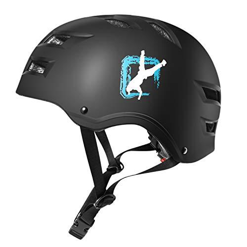 Automoness Casco Skate,Casco Bicicleta con CE Certifiacdo,Unisex Adultos Jovenes Ninos.Multi-Deporte para Ciclismo,Skate, Esqui, Patinaje,3 Tamano