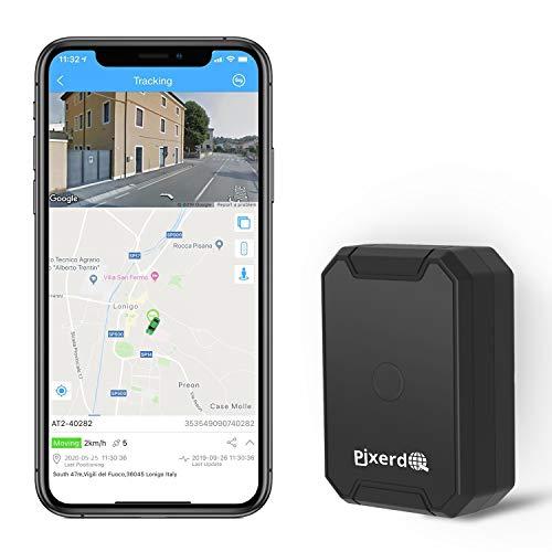 【Localizador GPS Magnético Fuerte】El Rastreador de GPS tiene solo 230 gramos (con cubierta magnética), dimensión: 8,5 cm x 5,8 cm x 2,9 cm, muy ligero y compacto, no es fácil de notar. El rastreador de vehículos con imán fuerte es muy fácil de instalar y tiene una función de alarma de manipulación, que es mucho más segura. Puede colocar fácilmente el dispositivo de rastreo GPS en una motocicleta, maleta o bolso, guardarlo en su bolsillo o incluso debajo del auto por un segundo 【Time Tiempo de Espera Súper Largo】 El Localizador GPS del automóvil tiene una batería de gran capacidad de 6000mAh incorporada que puede durar hasta 100 horas (el intervalo de carga de datos de posicionamiento del GPS es de 10 segundos), y el tiempo de espera puede ser de hasta 1 mes. Cargue rápidamente con Micro USB durante 3 horas. Diseño a prueba de polvo y agua IP67, sin necesidad de preocuparse por los días de lluvia 【Posicionamiento GPS Preciso y en Tiempo Real】GPS tracker para coche con posicionamiento GPS y LBS incorporado para hacer que la señal sea más estable, precisa y más rápida cuando se cargan datos. El rastreador de GPS envía los datos de posicionamiento al servidor de la plataforma