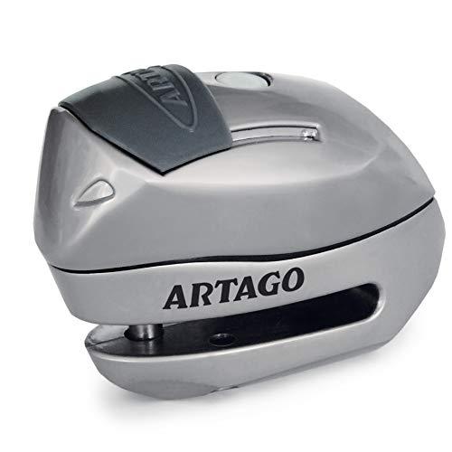 Artago 24S.6M Candado antirrobo Moto Disco Alarma 120 db Warning Inteligente, o 6 mm, metalico, Multicolor