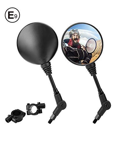 Se adapta a: el retrovisor negro de la motocicleta se adapta a la mayoría de los modelos de motocicleta como R1200GS / F800GS, CB500 F / CB1000R / CB1300, Z650 / Z900, SV 650, etc. se puede usa en bicicleta con la abrazadera. E9-Homologado: Este espejo tiene una certificación E-mark. Le ofrece una alta definición y una visión más amplia. Extremo de barra ajustable diseñado: ángulo de espejo ajustable, arriba y abajo, izquierda y derecha. Fácil de ajustar el ángulo que ves. Diseño de moda: Los pernos tambien se pinta en negro, color es unitario con el cuerpo de moto. Use un bloqueador de roscas azul (como LOCTITE) para mantener el producto alejado de vibraciones o sueltos. Garantía: Por cualquier motivo, si no está satisfecho con su compra, contáctenos directamente. Ofrecemos garantía de un año, 100% de garantía de satisfacción! Por favor, compruebe el modelo y el tamaño antes de comprar.