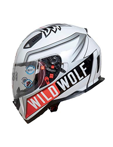 Shiro Casco Moto Integral ECE Homologado WILD WOLF SH881 EDICION LIMITADA L casco con doble visera solar casco hombre casco mujer casco unisex