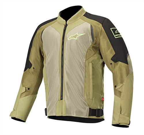 Alpinestars Chaqueta para moto Wake Air Jacket Black Olive Green Fluo, Negro/Verde, L