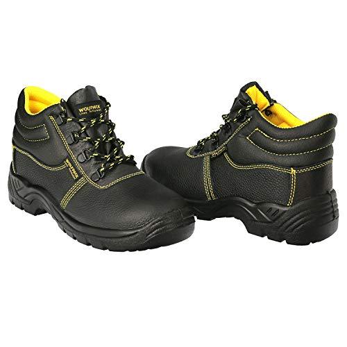Botas Seguridad S3 Piel Negra Wolfpack Nº 44 Vestuario Laboral,calzado Seguridad, Botas Trabajo.