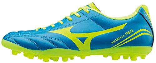 Bota Futbol Mizuno MORELIA NEO CLUB AG Piel Azul Hierba Artificial - 45