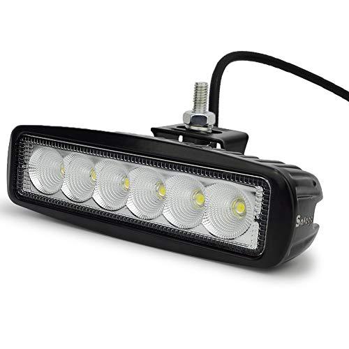 1. Super brillante del Cree LED de alta potencia lumínica, viga de inundación(60 degree). La mejora de visibilidad en la noche y el mal tiempo. 2. LED de alimentación: 18W (6pcs * 3W LED de alta intensidad Cree), Tensión de funcionamiento: 10-30 V DC. 3. De fundición en aluminio para un mejor rendimiento a prueba de golpes y anti corrosión, se puede utilizar en la lluvia o ambiente hostil. 4. El paquete incluye: 1 x BeiLan LED luz de trabajo 2 x soporte de montaje. 5. Aplicaciones: vehículos todo terreno, SUV, Jeep, camiones, vehículos de ingeniería (excavadoras, bulldozers, Camino Rodillos, excavadoras, grúas y camiones de minería), vehículo especial (Ingenieros de bomberos, coches de policía, vehículos de rescate, vehículos de comunicación, militares vehículos de mando ), etc
