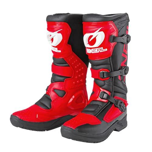 O'NEAL | Botas de Motocross | Enduro de Motocross | Protección interior de tobillos, pies y zona de cambio, forro perforado, microfibra de Perdurable | Botas RSX | Adultos | Rojo | Talla 43