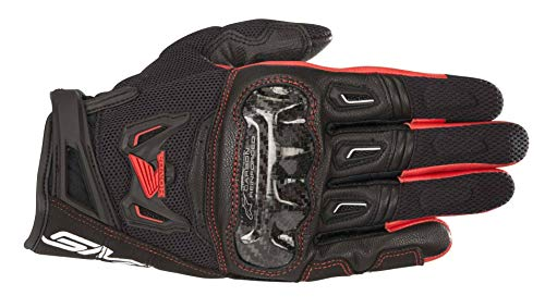 Alpinestars - Guantes de Moto SMX-2 Air Carbon V2 Glove Black Red - L
