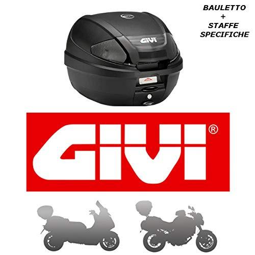 Givi - Baúl de 30 l E300NT2 + Casquillo SR5600M Monolock Piaggio MP3 Yourban 125 2011 2018 con catalizadores de Humo