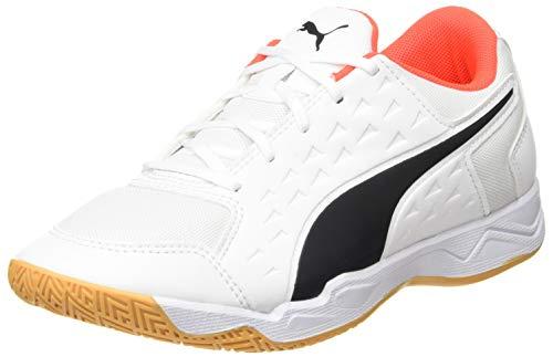 PUMA Auriz Jr, Zapatillas de fútbol, Blanco White-Red Blast-Gum, 39 EU