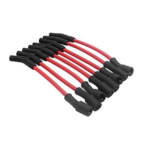10mm LSX , LS1, LS2, LS3, LS6, & LS7 Cables de la bujía para la bobina redonda. Diseño de heridas en espiral de 10 mm - KEVLAR centro - RFI Supresión. Baja resistencia (solo 30 ohmios). Botas de silicona y manguitos fuertes resistentes al calor. Compatible con 1,846 vehículos diferentes para uso versátil.