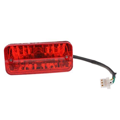 1. Tamaño: Distancia del perno de instalación: 105 mm, tamaño: 128 mm x 58 mm, grosor: 47 mm 2. Material: bombilla brillante de alta calidad, resistente a las caídas, la carcasa exterior es roja y la luz es naranja 3. Características: luz brillante, sistema de 3 cables, 12v21-5w puede ser universal, enchufe hembra, fácil de instalar 4. Adecuado para 50cc 70cc 90cc 110cc 125cc 150cc Quad ATV Dirt Pit Bike 5. Recordatorio / Nota: Para asegurarse de comprar el producto correcto, lea atentamente la descripción del producto o el tamaño de la imagen. Gracias por su atención. Si tiene alguna pregunta o necesita ayuda, comuníquese con nosotros antes o después de la compra. Haremos todo lo posible para ofrecerle una solución.
