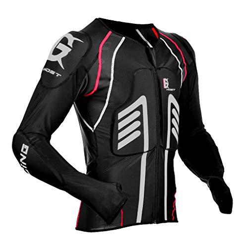 Sharplace Chaqueta para Hombres Armadura Proteccion de Espalda Codo Hombro de Motoristas Ciclistas - Negro XXL