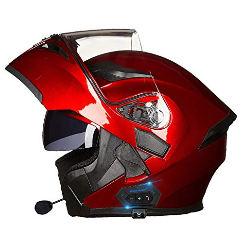 ★ [AURICULARES BLUETOOTH INTEGRADOS] El casco de moto con auricular bluetooth se puede emparejar con el teléfono móvil. Escuche música Responda automáticamente llamadas, radio FM, etc., fácil de instalar, estéreo de alta calidad que le permite cambiar sin problemas entre llamadas y música mientras conduce. ★ [MATERIALES DE ALTA CALIDAD] El casco de la motocicleta tiene una carcasa de ABS erodinámico, EPS de densidad múltiple, correa de barbilla ajustable, mantiene el casco limpio, fresco e inodoro. Diseño de doble visor antivaho, la lente interior puede prevenir los rayos ultravioleta. Se puede encender y apagar con el interruptor de lente interior. ★ [FORRO DESMONTABLE Y LAVABLE] El forro del casco modular se puede desmontar y limpiar, es fácil de desmontar, fácil de limpiar, sin deformaciones, ventilado y seco, transpirable y absorbente de sudor. ★ [VENTILACIÓN AJUSTABLE] Varios orificios de seguridad en la parte superior y trasera pueden cortar la circulación de aire en el casco cuando no es necesario. El diseño del casco abatible también puede darle a su conducción dos estilos de vida. ★ [SERVICIO Y GARANTÍA] DYOYO es totalmente responsable de todos los productos DYOYO, si tiene alguna razón para nuestro producto en cualquier momento, comuníquese con nuestro equipo DYOYO de inmediato y lo haremos de manera correcta e inmediata.
