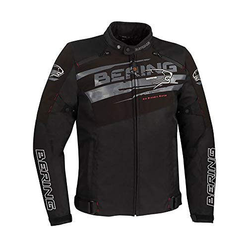 BERING Vikos - Chaqueta para moto, color negro, gris, XL