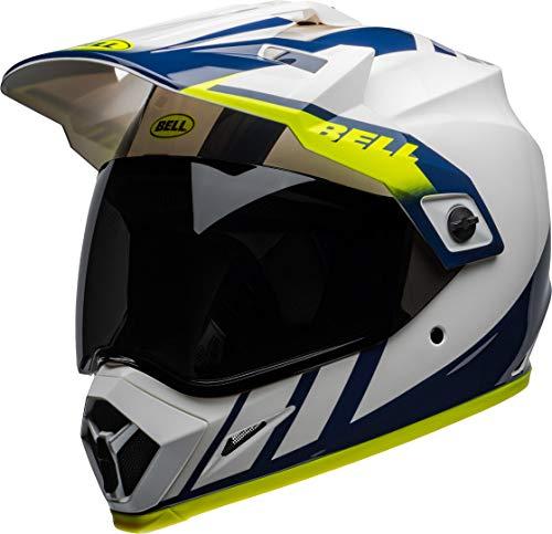 BELL MX-9 Adventure MIPS Dash Helmet Blanco/Azul/Hi Viz XL