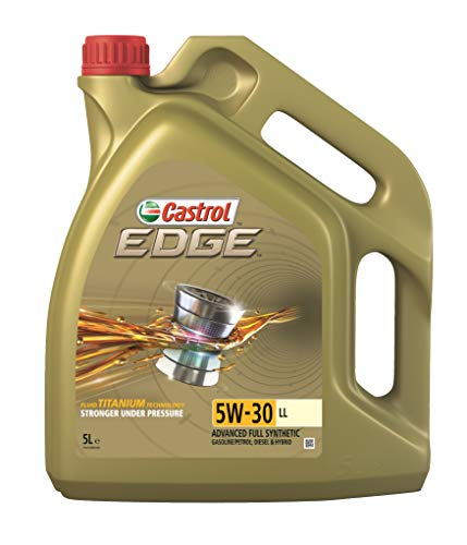 Castrol EDGE 5W-30 LL es adecuado para su uso en automóviles con motores gasolina y diésel cuyo fabricante recomiende: ACEA C5 Castrol EDGE 5W-30 LL esta aprobado para su uso en vehiculos donde el fabricante recomienda un lubricante 5W-30 con las normas VW 504 00 / 507 00, Porsche C30 o MB-Approval 229.31/229.53 Castrol EDGE con Fluid TITANIUM patentado transforma su estructura física para ser más fuerte bajo presión para mantener el metal separado y reduce la fricción para lograr el máximo rendimiento del motor cuando más lo necesita. Reduce la fricción que redice la potencia en todaas las velocidades y condiciones del motor Ofrece un alto nivel de eficiencia en el consumo de combustible y rendimiento a baja temperatura