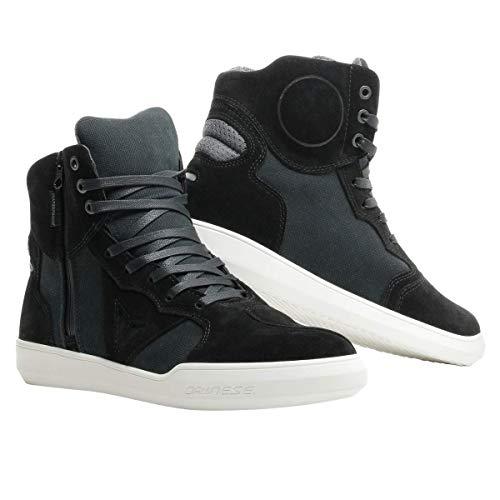 Dainese Metropolis D-WP Shoes, Zapatos Moto Impermeables Hombre, Negro/Antracita, 44 EU