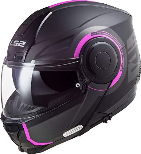 LS2, Casco modular de moto, Scope Arch, titanio rosa, S