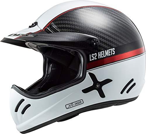 LS2 404712031S Casco de Motocross MX471 Xtra Yard, Unisex, Blanco/Rojo, S