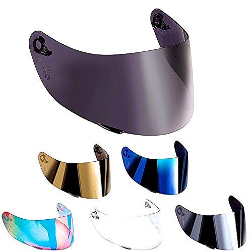 Visera AGV compatible para casco AGV K3, SV K1, K5, K5-SV, K5S, Horizon, Skyline, Strada, Numo GT-2, apto para tallas XXS, XS, S, MS, M, ML, L, XL, XXL. talla única Arcobaleno