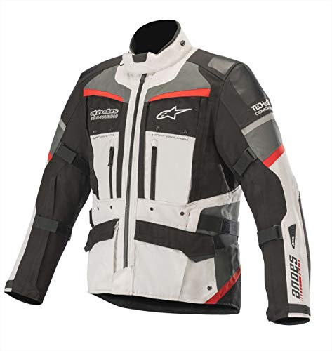 Alpinestars Chaqueta moto Andes Pro Drystar Jacket Tech-air Compatible Light Gray Black Dark Gray Red, Gris/Negro/Rojo, XXL