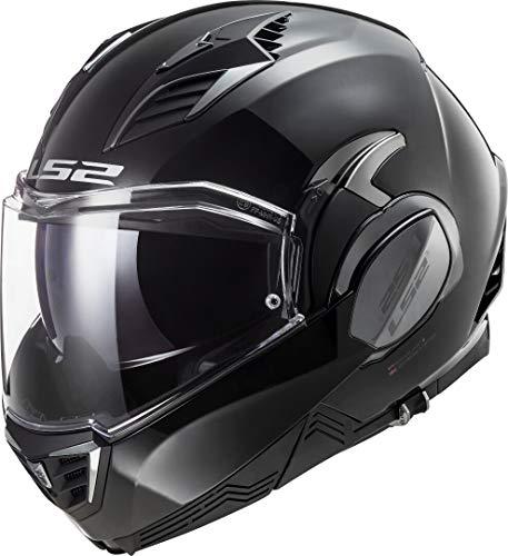 LS2 Valiant II Casco de Moto, Hombre, Negro, M