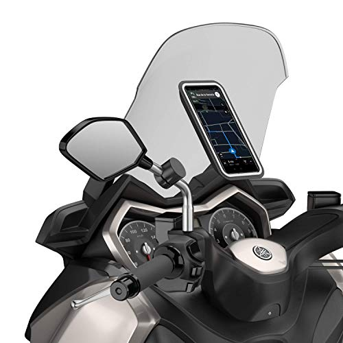 Shapeheart - Soporte Movil Magnético para Espejo de moto y scooter , Talla XL, Smartphone hasta 16.8cm