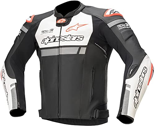Alpinestars Chaqueta moto Missile Ignition Lt Jacket Tech-air Compatible BlackWhite Red Fluo, BLACK/WHITE/RED/FLUO, 48 (31001201231-48)