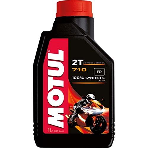 Motul 7102T - Aceite 100% sintético para mezcla para motores de 2 tiempos