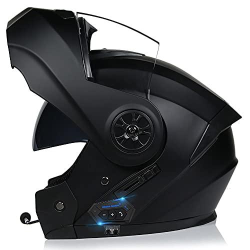 ⭐ UTILICE AURICULARES BLUETOOTH: Casco con dos lentes y auricular Bluetooth, se puede emparejar con el teléfono móvil. Escuche música Responda llamadas automáticamente, etc., fácil de instalar, estéreo de alta calidad que le permite cambiar sin problemas entre llamadas y música mientras conduce. ⭐ MATERIALES DE ALTA CALIDAD: carcasa de ABS aerodinámico, EPS de densidad múltiple, correa de barbilla ajustable, mantiene el casco limpio, fresco e inodoro. Diseño de doble lente, la lente interior puede prevenir los rayos ultravioleta. Se puede encender y apagar con el interruptor de lente interior. Visera antivaho externa extraíble. ⭐ FORRO DESMONTABLE Y LAVABLE: El forro se puede desmontar y limpiar, es fácil de desmontar, fácil de limpiar, sin deformaciones, ventilado y seco, transpirable y absorbente de sudor. ⭐CASCO PROFESIONAL : Los cascos de motocicleta profesionales cumplen o superan el estándar ECE DOT FMVSS 218, con una apariencia elegante y muchas funciones avanzadas. Necesitas bicicletas de calle, autos de carreras, cruceros, scooters ⭐ Visera solar de doble capa: el protector solar y las lentes antirreflejos pueden bloquear eficazmente el resplandor durante el día; Reducir el deslumbramiento por la noche. La lente de alta definición es claramente visible durante todo el día, protegiendo sus ojos de la arena y el polvo.