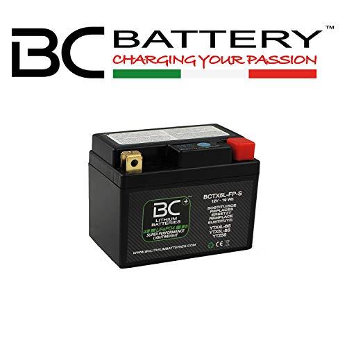 BC Lithium Batteries BCTX5L-FP-S Bateria Litio para Moto LiFePO4, Negro, 1