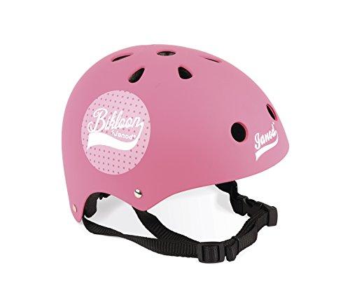 Janod- Casco Bikloon, color rosa, Lunares (J03272)