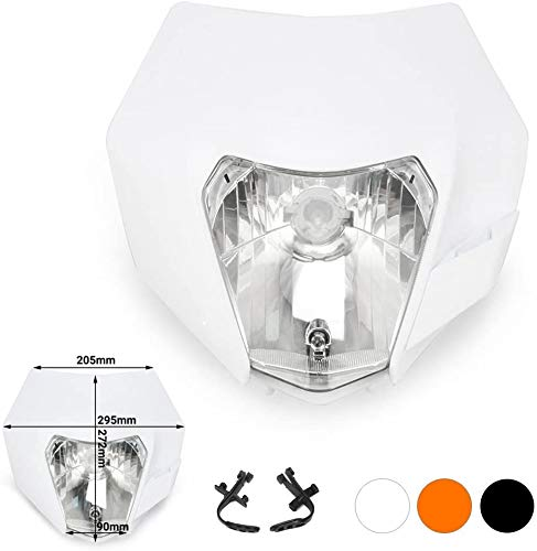 & # 9658 Material: Plástico PP & # 9658 Tipo de bombilla: S2 12V 35W, luz dual con posición alta / baja & # 9658 Dimensiones aproximadas: H: 12.5