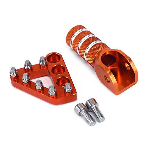 Mecanizado CNC T6 6061 Aluminio Hermosa superficie anodizada e increíble luz Se ha actualizado de partes de stock, mucho más fuerte Remaches de acero inoxidable para palanca de freno, mucho más resistentes que el aluminio Paso de palanca de freno ajustable