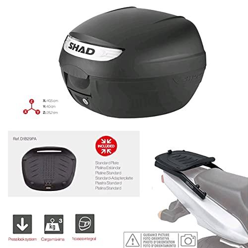 Kit-shad-195 - Kit fijacion y Maleta baul Trasero sh26 Compatible con Piaggio mp3 yourban 2011-2016