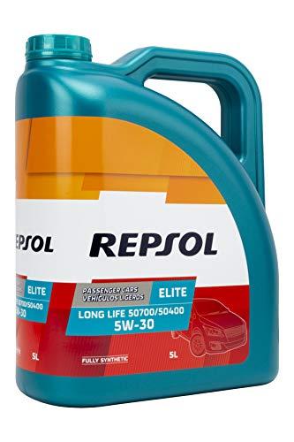 Repsol 543050 Aceite DE Motor Elite Long Life 50700/50400 5W30 5 litros, Multicolor, 5 L