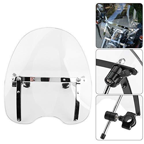 Shipenophy Deflector de Viento, Accesorio para Montar en Moto, Parabrisas de Motocicleta para modificación de molduras(Transparent)