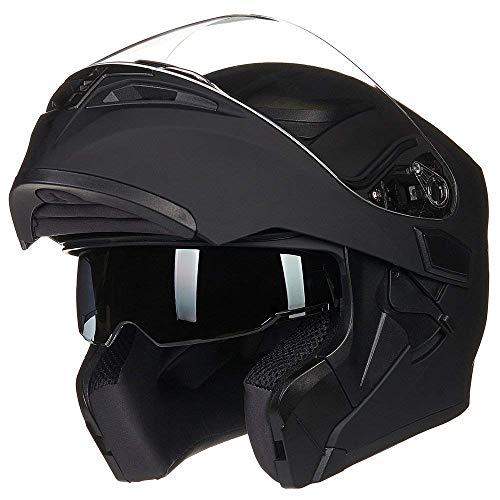 JieKai Casco para motocicleta integral, con visera extraíble, con certificación DOT
