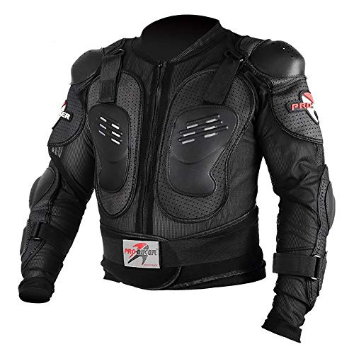 LINGKY Ropa Protectora De La Armadura Completa De La Motocicleta, Chaqueta De La Camisa Protectora Del Campo A Traves Del Motocross De La Calle, Proteccion Trasera