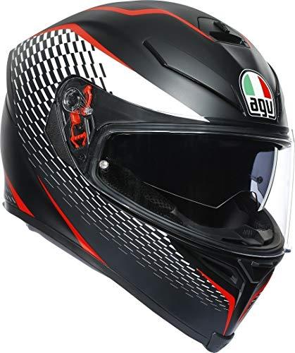 Casco moto integral Tamaño Medium Color Negro Rojo Marca agv