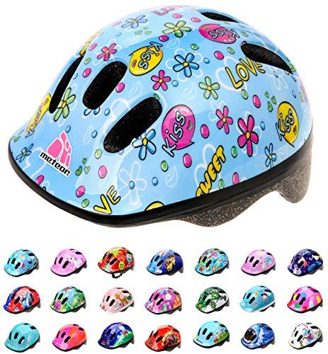 Casco Bicicleta Bebe Helmet Bici Ciclismo para Nino - Cascos para Infantil Bici Helmet para Patinete Ciclismo Montana BMX Carretera Skate Patines monopatines MV6-2 (S(48-52cm), Kiss Love)