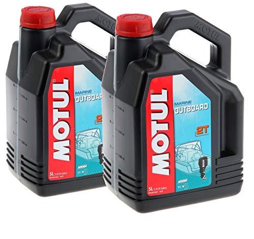 MOTUL Lubricantes para Motor 2 Tiempos Fuera Borda Mineral Outboard 2T, Pack 10 litros