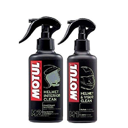 MOTUL Pack+ ECONOMICO Limpieza Cascos MC Care M1 Helmet & Vision Clean 250ml M2 Helmet Interior Clean 250ml