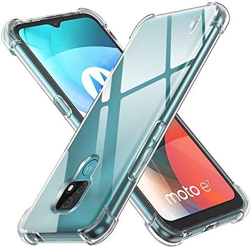 [Compatibilidad] --- Compatible con Motorola Moto E7. [Mantente Original] --- Su TPU transparente es antiamarilleante y permite mostrar el aspecto original de tu teléfono. Ligero y delgado, no agregue abultar a su teléfono. El diseño interno de pequeños puntos evita una marca de agua fea contra la parte posterior y los lados del teléfono. Además, es resistente a huellas. [Diseño Resistente a Los Golpes] --- Carcasa esquinas tienen bolsas de aire, pueden reforzar la protección del teléfono cuando cae en el suelo, puede mitigar con eficacia daños en el teléfono. [Pantalla y Protección de La Cámara] --- Funda from iVoler no solo proporciona un bisel de 1 mm más alto para la cámara, sino que también da labios de 0,5 mm más altos a la pantalla para que actualice aún más la protección de la pantalla. [Ajuste Perfecto] --- Los recortes precisos facilitan el acceso a todos los botones y puertos. Botones táctiles para una respuesta rápida. Sin margen de maniobra. Al igual que el teléfono está desnudo. Fácil de instalar y quitar.