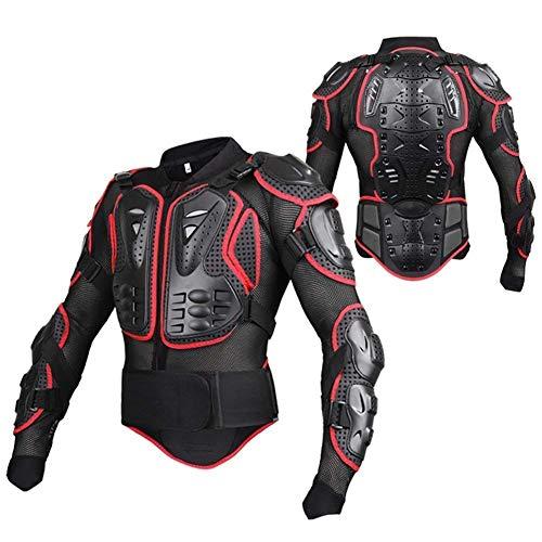 WILDKEN Chaqueta de Proteccion para Motocross Motos Ropa Protectora de Cuerpo Armadura Completo Profesional de Motocicleta Deportiva para Hombres Columna Vertebral Hombro Mujer Pecho (Rojo, S)